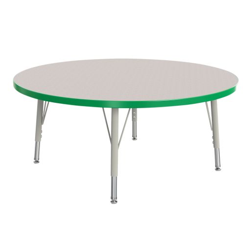 """Berries® 36""""Dia. Round Activity Table, 15"""" - 24"""" Leg Height - Green"""