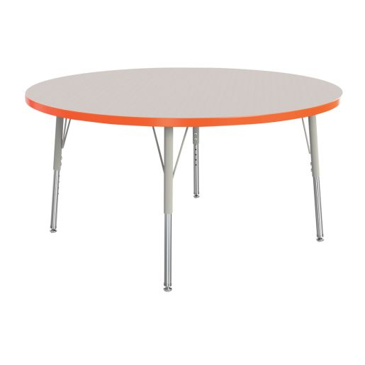 "Berries® 36""Dia. Round Activity Table, 15"" - 24"" Leg Height - Orange"