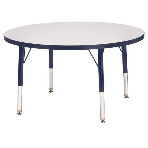"Berries® 36""Dia. Round Activity Table, 24"" - 31"" Leg Height - Navy"