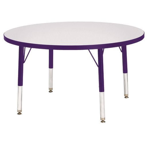 "Berries® 36""Dia. Round Activity Table, 24"" - 31"" Leg Height - Purple"