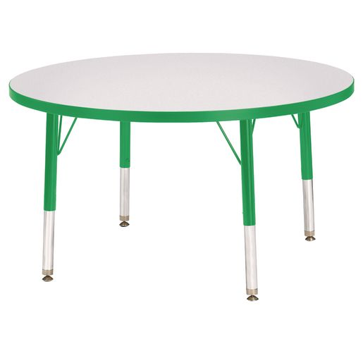 """Berries® 36""""Dia. Round Activity Table, 24"""" - 31"""" Leg Height - Green"""