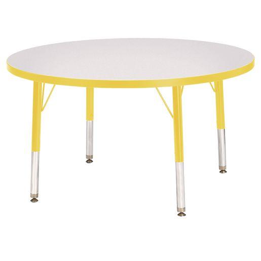 "Berries® 36""Dia. Round Activity Table, 24"" - 31"" Leg Height - Yellow"