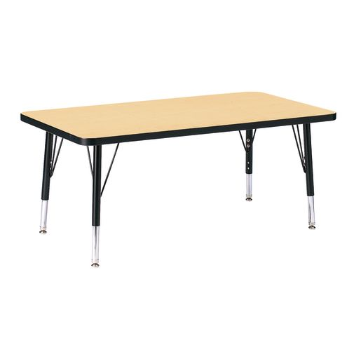 "Berries® 24"" x 36"" Rectangle Activity Table, 15"" - 24"" Leg Height - Maple/Black"