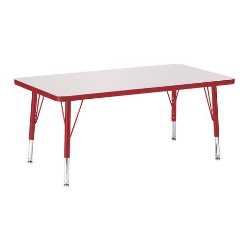 "Berries® 24"" x 36"" Rectangle Activity Table, 11"" - 15"" Leg Hegiht - Red"