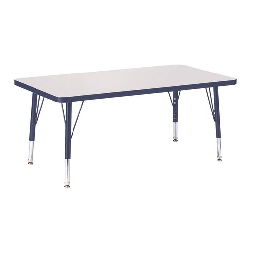 "Berries® 24"" x 36"" Rectangle Activity Table, 15"" - 24"" Leg Height - Navy"