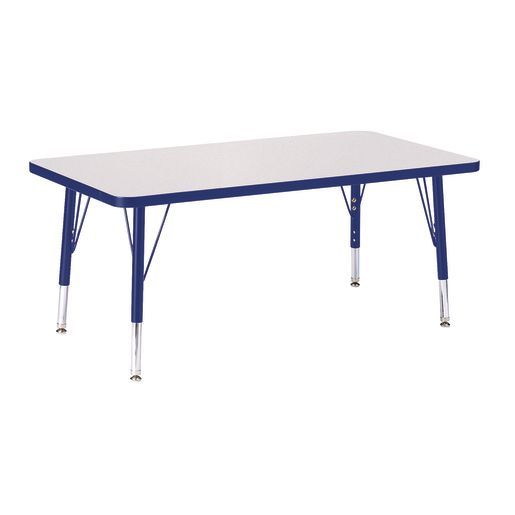 "Berries® 24"" x 36"" Rectangle Activity Table, 15"" - 24"" Leg Height - Blue"