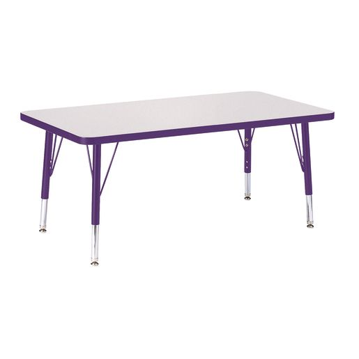 "Berries® 24"" x 36"" Rectangle Activity Table, 15"" - 24"" Leg Height - Purple"