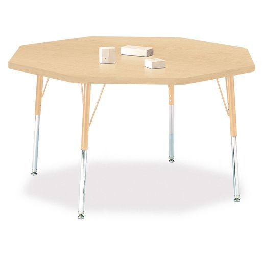 """48"""" x 48"""" Berries® Maple Prism Activity Table -  Octagon, 24"""" - 31"""" Leg Height"""