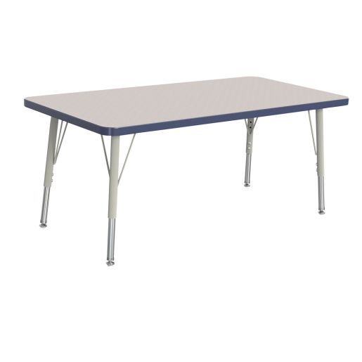 "Berries® 24"" x 36"" Rectangle Activity Table, 24"" - 31"" Leg Height - Navy"