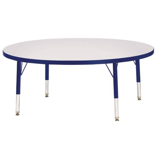 """Berries® 48""""Dia. Round Activity Table, 11"""" - 15"""" Leg Height - Blue"""