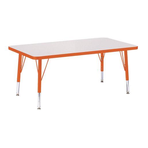 "Berries® 24"" x 36"" Rectangle Activity Table, 24"" - 31"" Leg Height - Orange"