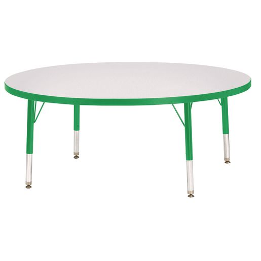"""Berries® 48""""Dia. Round Activity Table, 11"""" - 15"""" Leg Height - Green"""