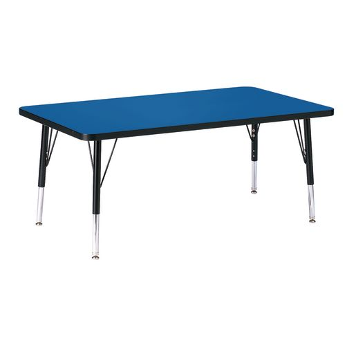 "Berries® 30"" x 48"" Rectangle Activity Table, 11"" - 15"" Leg Height - Blue/Black"