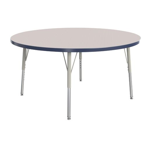 "Berries® 48""Dia. Round Activity Table, 15"" - 24"" Leg Height - Navy"