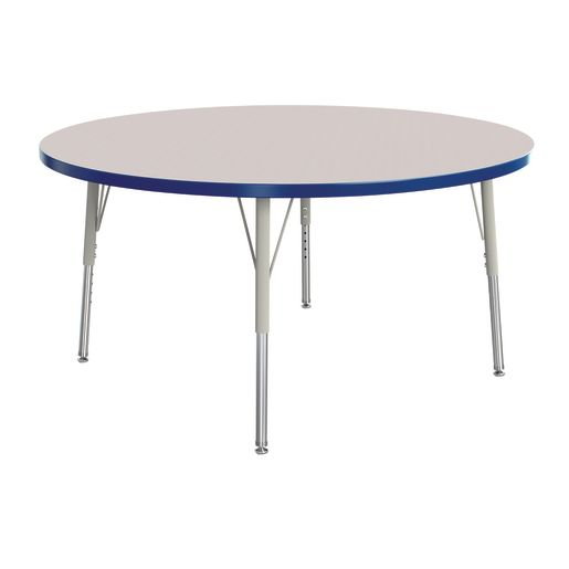 "Berries® 48""Dia. Round Activity Table, 15"" - 24"" Leg Height - Blue"