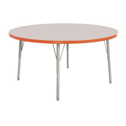 "Berries® 48""Dia. Round Activity Table, 15"" - 24"" Leg Height - Orange"