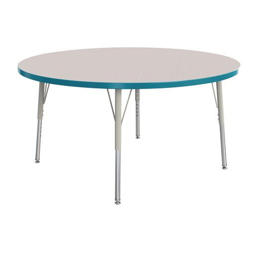 "Berries® 48""Dia. Round Activity Table, 15"" - 24"" Leg Height - Teal"