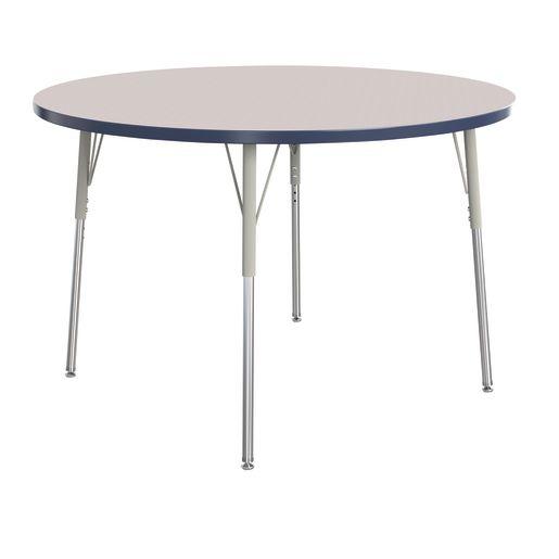 "Berries® 48""Dia. Round Activity Table, 24"" - 31"" Leg Height - Navy"