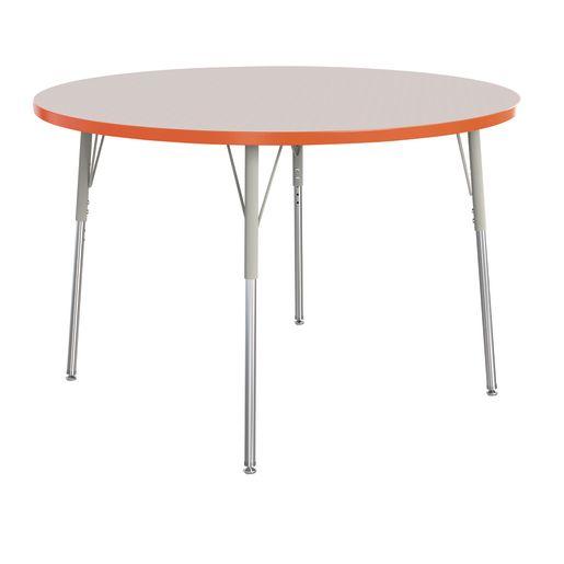 "Berries® 48""Dia. Round Activity Table, 24"" - 31"" Leg Height - Orange"
