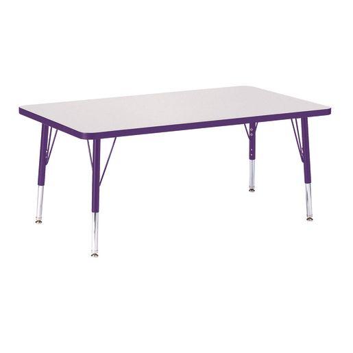 "Berries® 30"" x 48"" Rectangle Activity Table, 11"" - 15"" Leg Height - Purple"