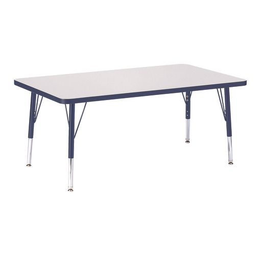 "Berries® 30"" x 48"" Rectangle Activity Table, 15"" - 24"" Leg Height - Navy"