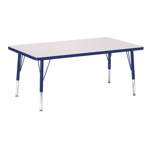 "Berries® 30"" x 48"" Rectangle Activity Table, 15"" - 24"" Leg Height - Blue"