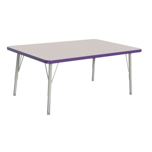"Berries® 30"" x 48"" Rectangle Activity Table, 15"" - 24"" Leg Height - Purple"
