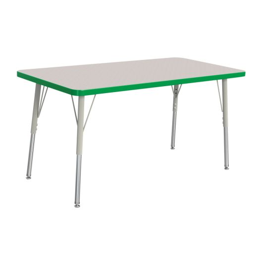 "Berries® 30"" x 48"" Rectangle Activity Table, 15"" - 24"" Leg Height - Green"