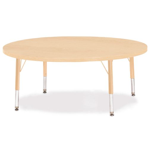 "42"" Berries® Maple Prism Activity Table - Round, 15"" - 24"" Leg Height"