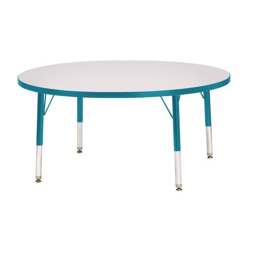 "Berries® 42""Dia. Round Activity Table, 11"" - 15"" Leg Height - Teal"