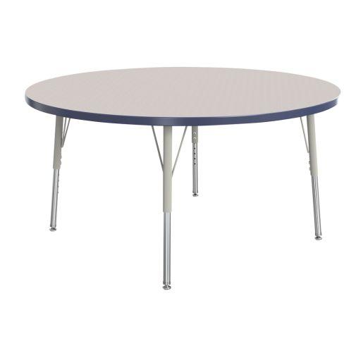 "Berries® 42""Dia. Round Activity Table, 15"" - 24"" Leg Height - Navy"