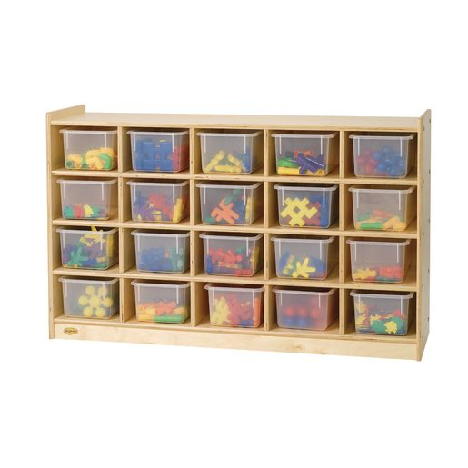 "Angeles Value Line™ Birch Tray Storage - 30""H, No Trays"
