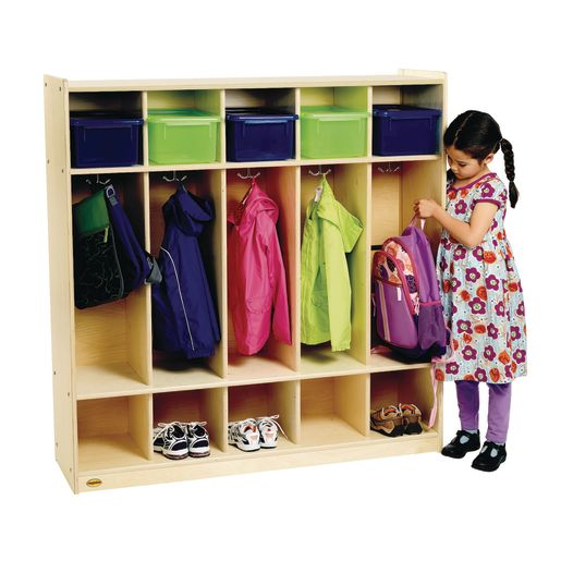 Angeles Value Line™ Birch 5-Section Preschool Locker