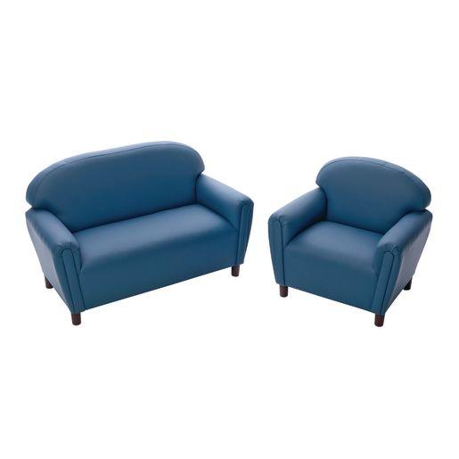 "Enviro-Child School Age Sofa 15""H Seat Height - Blue"