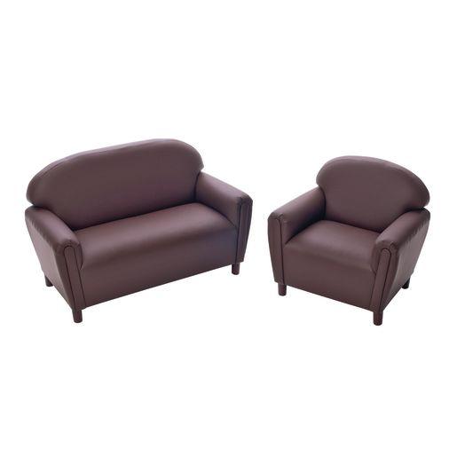 "Enviro-Child School Age Sofa 15""H Seat Height - Chocolate"