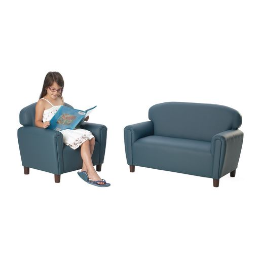 "Preschool Enviro-Child Sofa 12""H Seat Height - Blue"