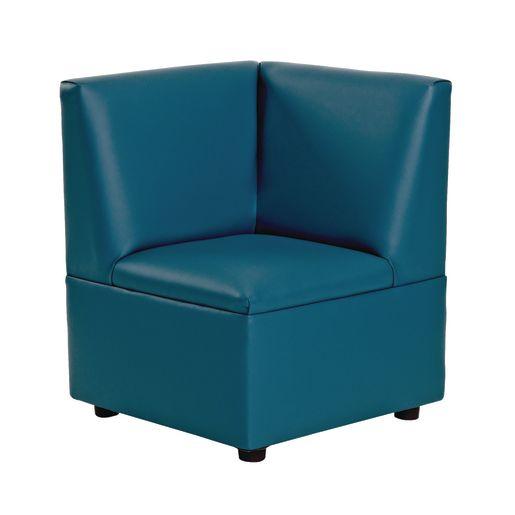 "Modern Casual Enviro-Child Upholstered Corner Seat 14""H Seat Height - Blue"