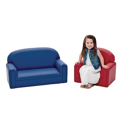 """Toddler Enviro-Child Upholstery Sofa 8""""H Seat Height - Primary Red"""