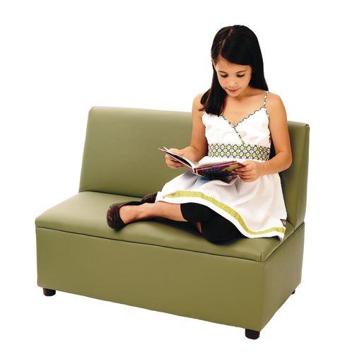 "Modern Casual Enviro-Child Sofa 14""H Seat Height - Sage"
