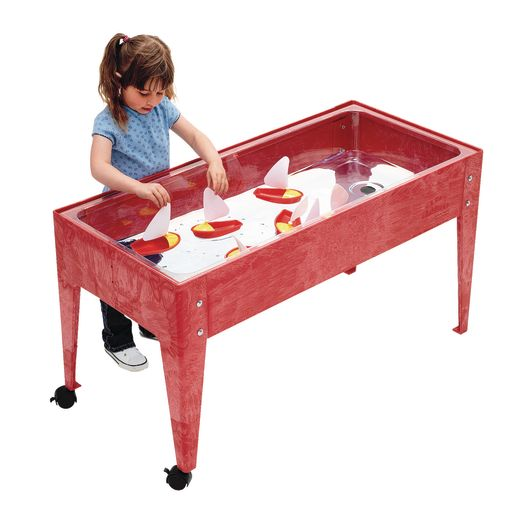 """24"""" Sand & Water Activity Center with Clear Liner - Red"""