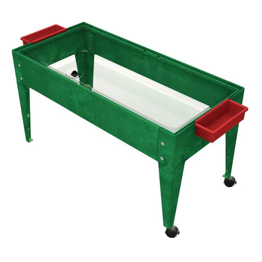 """24"""" Sand & Water Activity Center with Clear Liner - Green"""