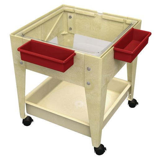 "Mobile Mite Table w/ Clear Liner - 24""H - Sandstone"