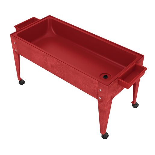 Sand and Water Activity Center - Solid Red Liner with 4 Casters - Red