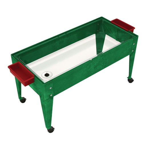 Sand and Water Activity Center - Clear Liner with 4 Casters - Green