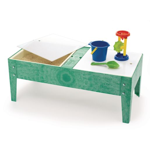 """Double Well S&W Table w/ Liner - 18""""H - Green"""