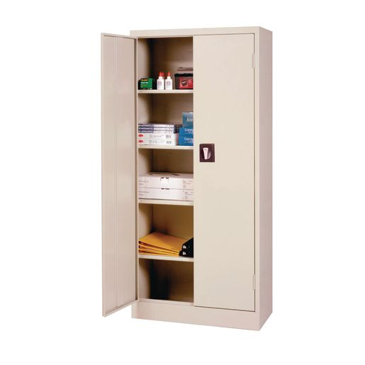 Art Supply Storage Closet - Dove Grey