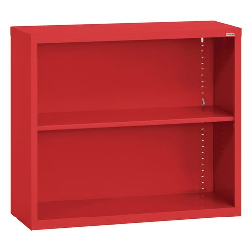 Elite Welded Bookcase - 1 Shelf - Red