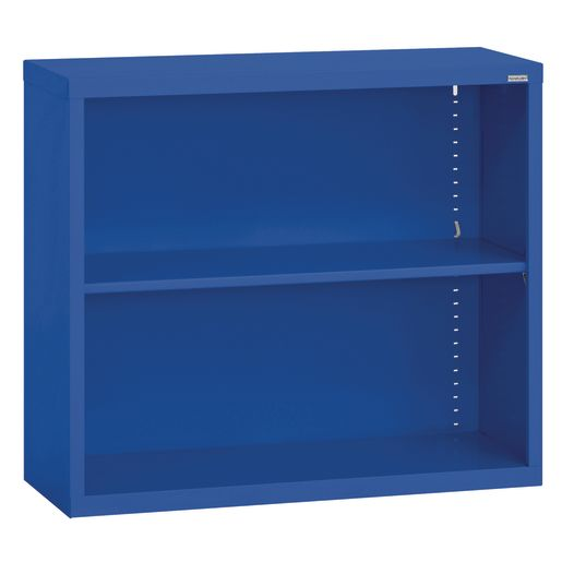 Elite Welded Bookcase - 1 Shelf - Blue