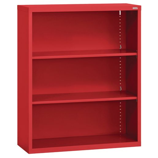 Elite Welded Bookcase - 2 Shelves - Red