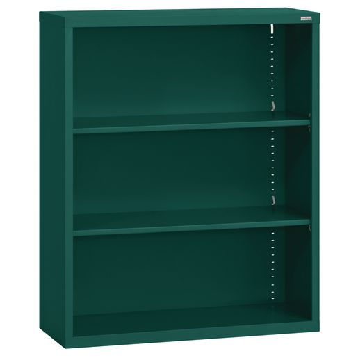 Elite Welded Bookcase - 2 Shelves - Forest Green